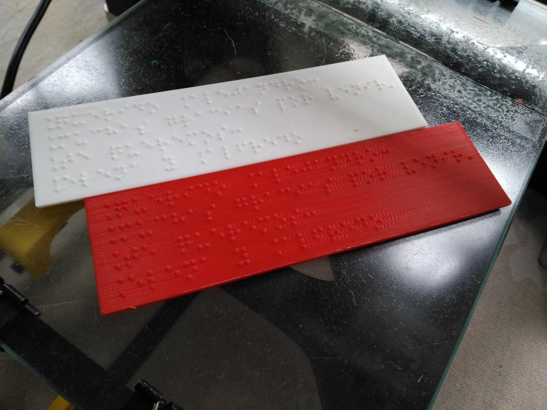 Ejemplo de marca-páginas impreso en 3D